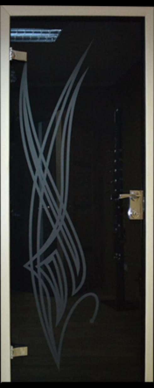 Арк-Самара, Цельностеклянная дверь с пескоструйным рисунком
