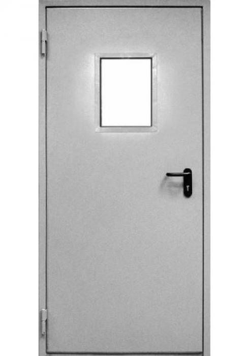 Дельта-сталь, Дверь металлическая противопожарная остекленная