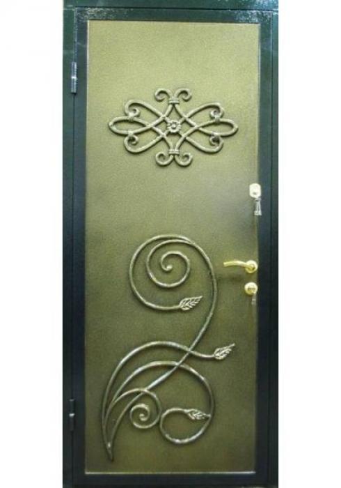 Дельта-сталь, Дверь металлическая с ковкой и литьем