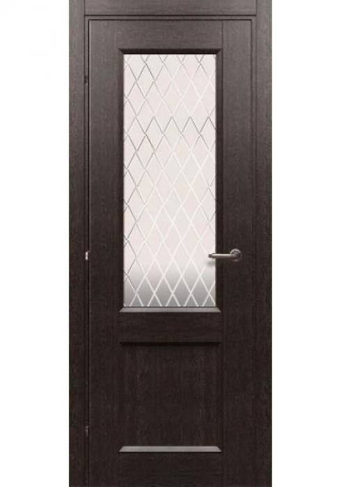 Краснодеревщик, Дверь межкомнатная 33.24 Черный Дуб Стекло Матовое
