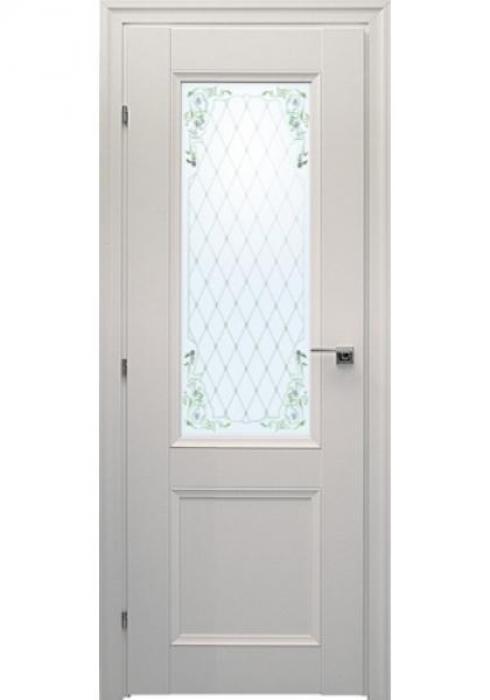 Краснодеревщик, Дверь межкомнатная 33.24Ф Белый Цветное стекло