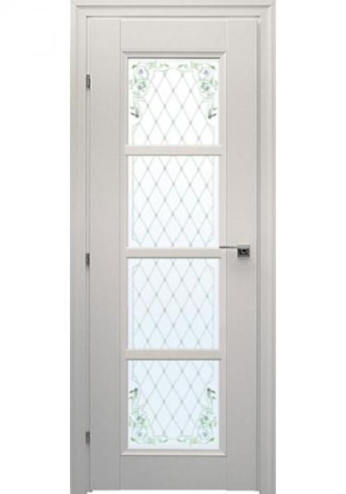 Краснодеревщик, Дверь межкомнатная 33.40Ф Белый Цветное стекло
