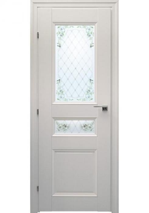 Краснодеревщик, Дверь межкомнатная 33.44Ф Белый Цветное стекло