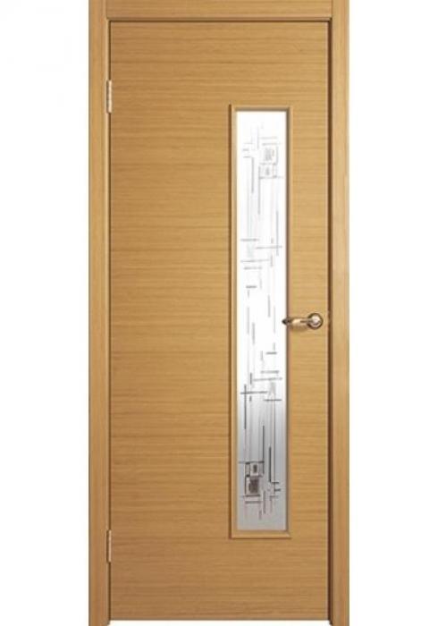 Краснодеревщик, Дверь межкомнатная 356 Дуб Cветлый Стекло Цветное Геометрия