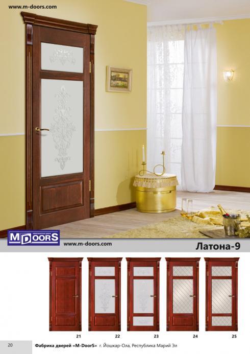 M-Doors, Дверь межкомнатная Фаворит 2 ДГО беленая сосна M-Doors