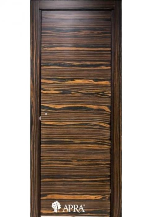 Апра, Дверь межкомнатная Гладкая шпон зебрано Апра