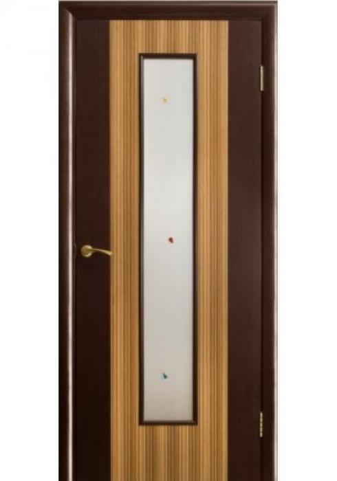 Оникс, Дверь межкомнатная Комби зебрано с остеклением