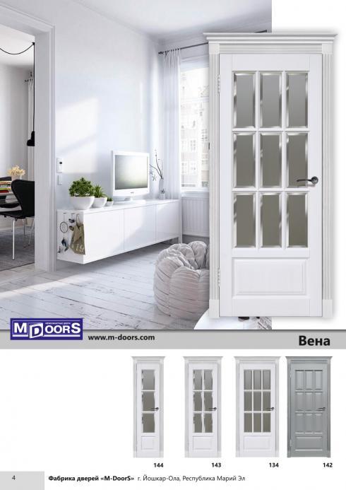 M-Doors, Дверь межкомнатная Кристалл ДО витраж M-Doors