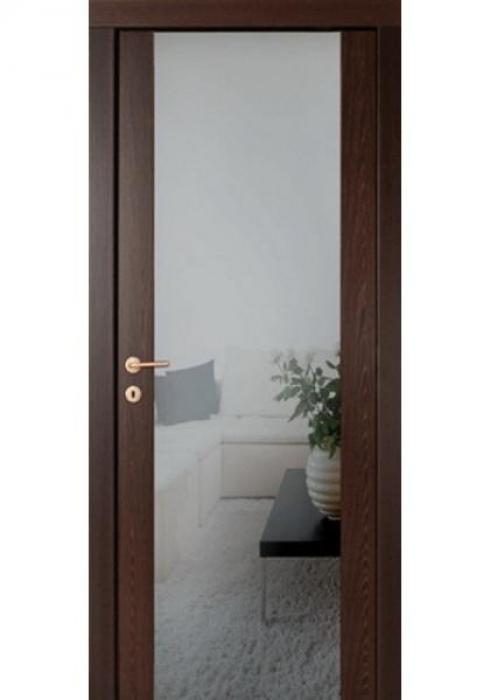 Русна, Дверь межкомнатная Техно 3 с зеркалом Русна