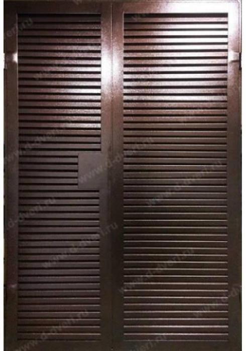 Дельта-сталь, Дверь стальная двухстворчатая с жалюзи