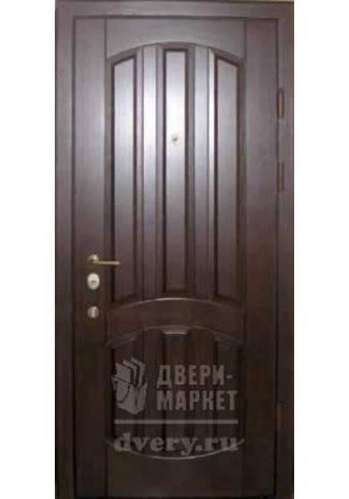 Двери-Маркет, Дверь входная металлическая массив дуба 05 - наружная сторона