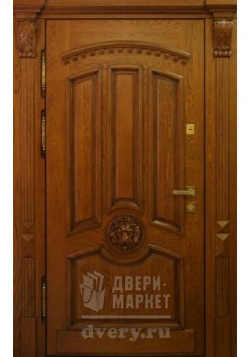 Двери-Маркет, Дверь входная металлическая массив дуба 34 - наружная сторона