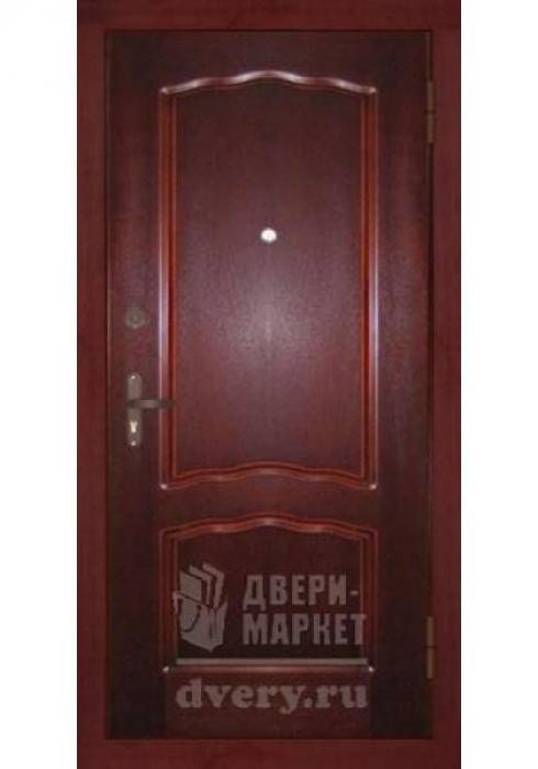Двери-Маркет, Дверь входная металлическая массив красного дерева 02