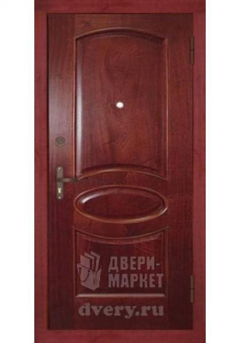 Двери-Маркет, Дверь входная металлическая массив красного дерева 04