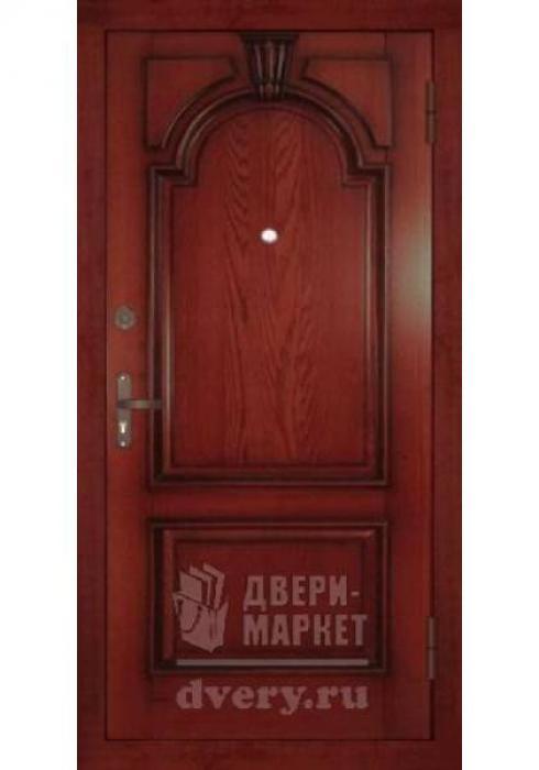 Двери-Маркет, Дверь входная металлическая массив красного дерева 08