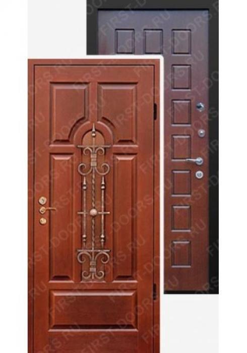 First Doors, Дверь входная металлическая мдф с ковкой