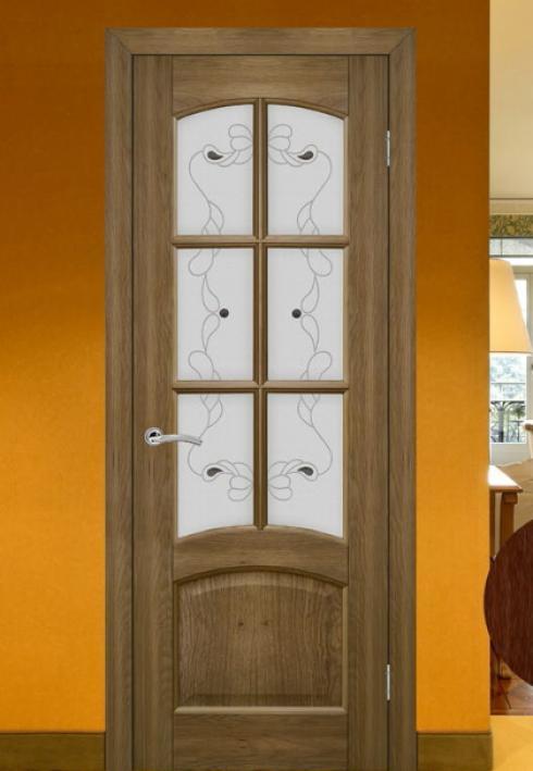 Триада, Межкомнатная калевочная дверь Агат 3 Триада