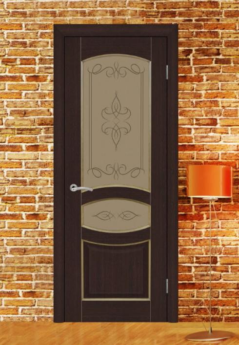 Триада, Межкомнатная калевочная дверь Топаз 3 Триада