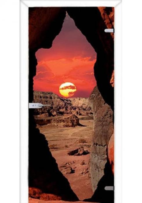 Асток, Межкомнатная стеклянная дверь с фотопечатью СДФ 001