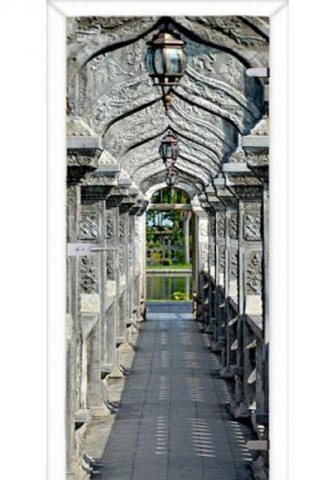 Асток, Межкомнатная стеклянная дверь с фотопечатью СДФ 006