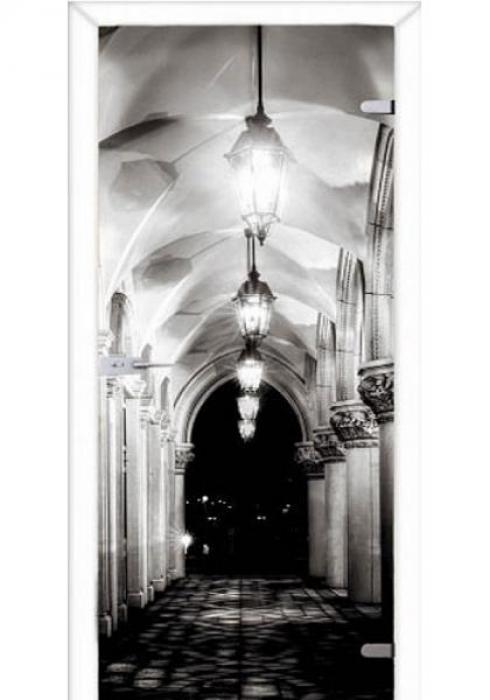 Асток, Межкомнатная стеклянная дверь с фотопечатью СДФ 012