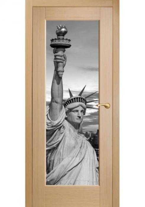 Оникс, Межкомнатные двери фотопечать Статуя Свободы