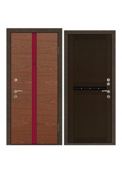 Завод Деревоизделий, Входная дверь 340 красное дерево - 250ДФ венге