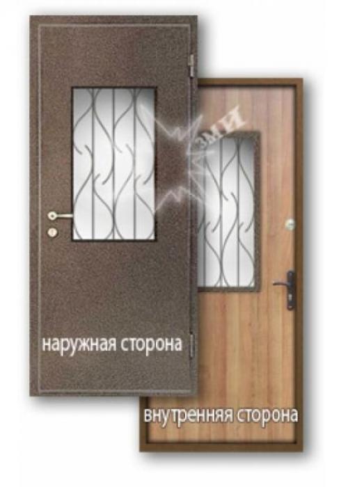 Завод Металлических Изделий, Входная дверь ламинат со стеклом 8