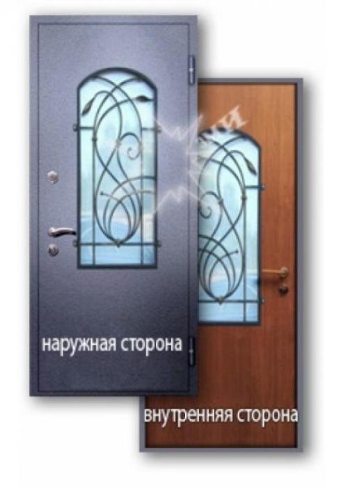 Завод Металлических Изделий, Входная дверь ламинат со стеклопакетом 9