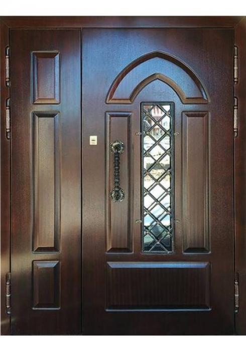 Двери Про, Входная дверь МДФ шпон с глубокой фрезеровкой