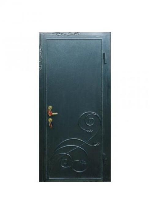 Вландр, Входная дверь порошкового окраса с кованой накладкой 4