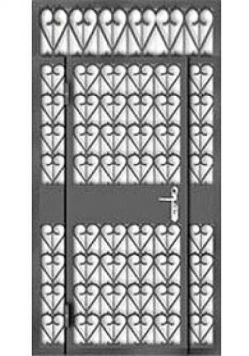Зевс, Входная дверь с решеткой Зевс RESH-06