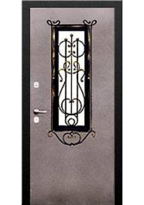 Двери Про, Входная дверь со стеклопакетом и решеткой