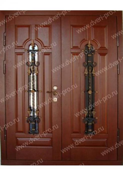 Двери Про, Входная двустворчатая дверь со стеклопакетом и решеткой