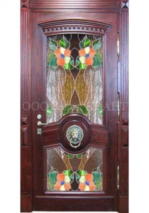 Квант, Входная металлическая дверь с витражом Квант