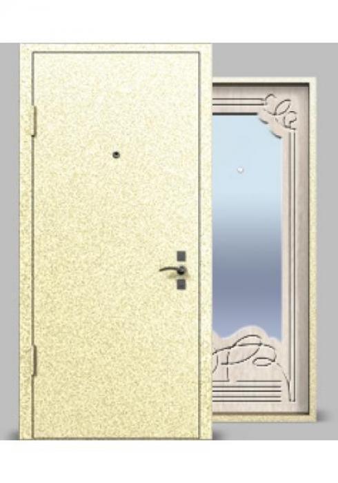 Vota, Входная металлическая дверь сер. А1 МДФ с зеркалом