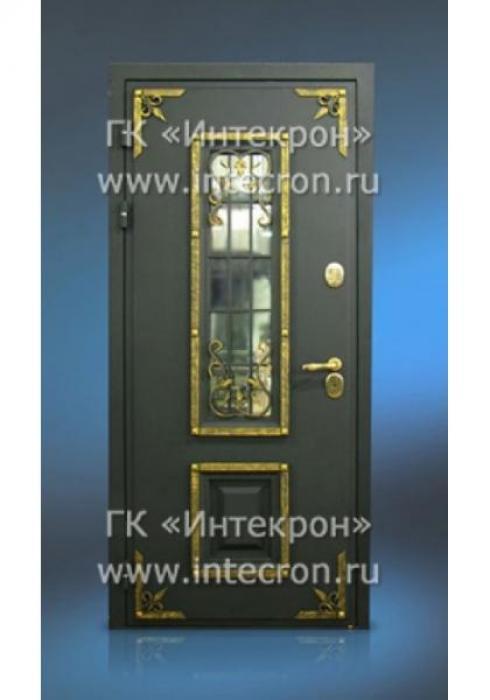 Интекрон, Входная стальная дверь с ковкой в окне