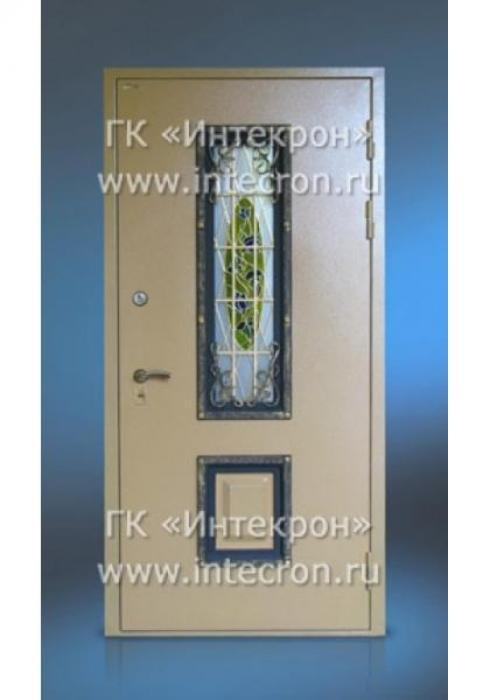 Интекрон, Входная стальная дверь с витражом Интекрон