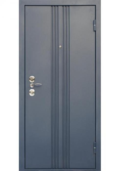 Дверь Сервис, Входная стальная дверь Тройной притвор - внешняя сторона