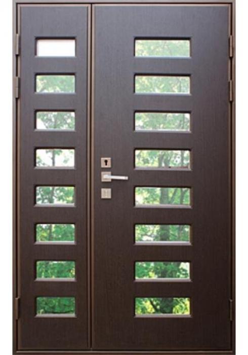 Дверь Сервис, Входная стальная дверь высокопрочная со стеклопакетом - внешняя сторона